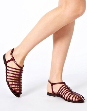 Image 3 ofASOS FAIRGROUND Leather Gladiator Flat Sandals