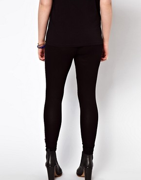 Image 2 ofASOS CURVE Exclusive Leggings With Geo Print Panel