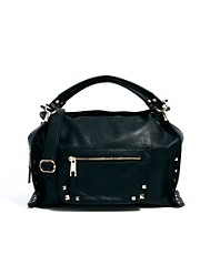 River Island Stud Edge Hard Base Slouch Bag
