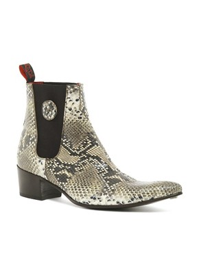 Image 1 ofJeffery West Snake Chelsea Boots