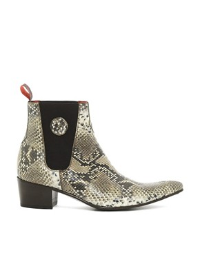 Image 4 ofJeffery West Snake Chelsea Boots
