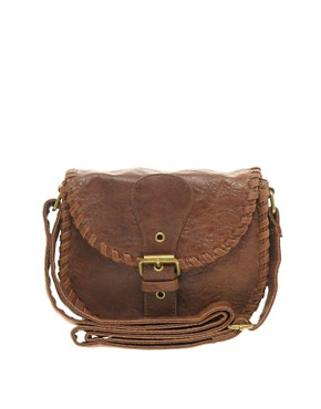 Image 1 ofASOS Whipstitch Saddle Bag