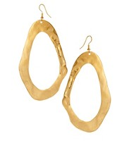 Kenneth Jay Lane Oversized Hoop Earrings