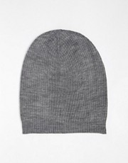 ASOS Oversized Beanie In Gray