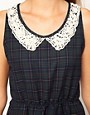 Image 3 ofJohann Earl Tartan Dress with Pearl Lace Collar
