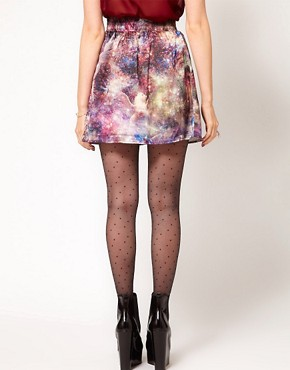 Image 2 ofHearts &amp; Bows Galactic Horse Print Skirt