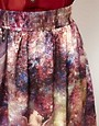 Image 3 ofHearts &amp; Bows Galactic Horse Print Skirt