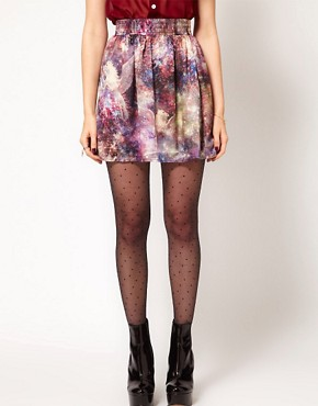 Image 4 ofHearts &amp; Bows Galactic Horse Print Skirt