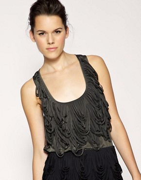 Image 1 ofASOS BLACK Loop Detail Racer Back Vest