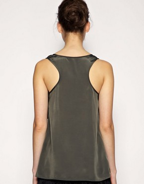 Image 2 ofASOS BLACK Loop Detail Racer Back Vest