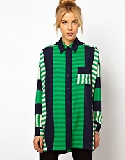 ASOS Shirt In Cutabout Stripe Print