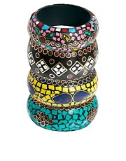 River Island Mosaic Bangle Set
