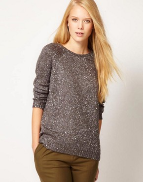 Image 1 ofWhistles Chrissie Sequin Slouchy Sweater