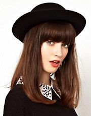 ASOS Wider Roll Brim Felt Boater