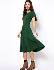 ASOS Midi Dress With Short Sleeves