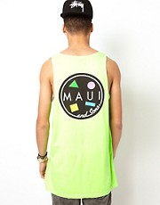 Maui And Sons Vest Cookie Back Print Logo