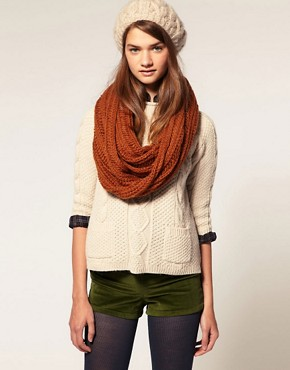 Image 3 ofASOS Loose Rib Knitted Snood