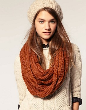 Image 1 ofASOS Loose Rib Knitted Snood