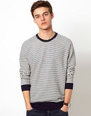Suit Stripe Sweatshirt