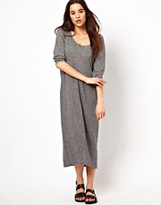 Selected Mallie Oversized Jersey Maxi Dress