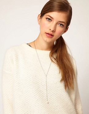 Image 3 ofLaura Lee Exclusive To ASOS Pearl Y Necklace