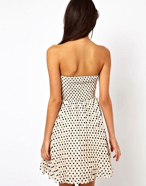 Image 2 ofLittle Mistress Embellished Polka Prom Dress