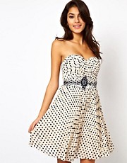 Little Mistress - Prom dress decorato a pois