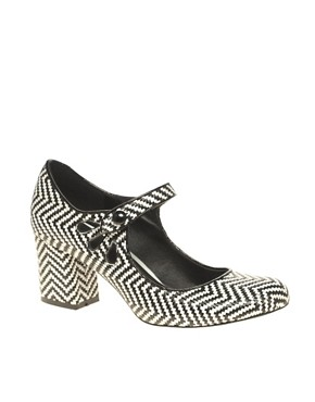 Image 1 ofASOS SHOCK Mary Jane Heels with Weave Detail