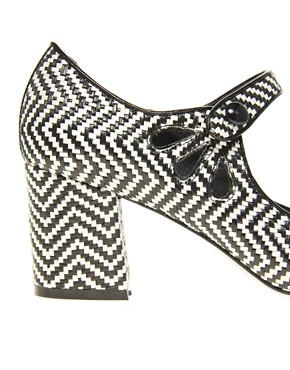 Image 2 ofASOS SHOCK Mary Jane Heels with Weave Detail