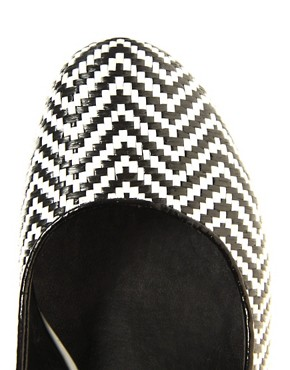 Image 4 ofASOS SHOCK Mary Jane Heels with Weave Detail
