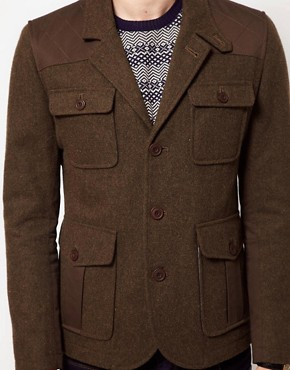 Image 3 ofASOS Wool Hunting Jacket