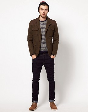 Image 4 ofASOS Wool Hunting Jacket