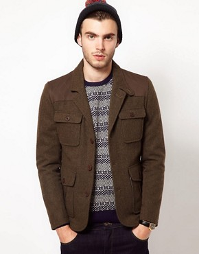 Image 1 ofASOS Wool Hunting Jacket