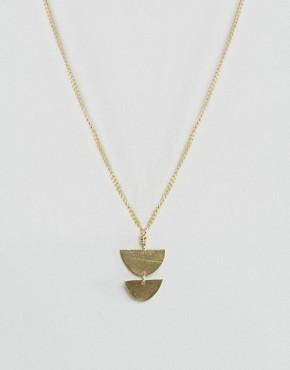 Ожерелье с подвеской-щитом Made - Золотой