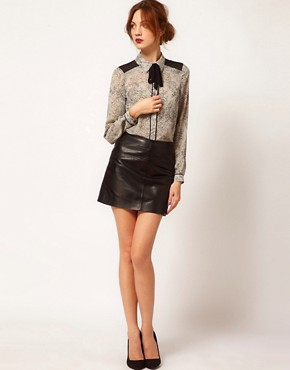 Image 4 ofWarehouse Lace Print Blouse