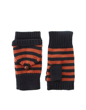 Image 1 ofASOS Stripe Converter Gloves