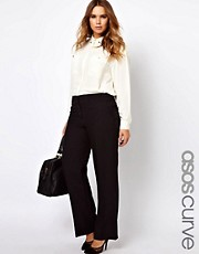 ASOS CURVE Bi-stretch Clean Front Wide Leg