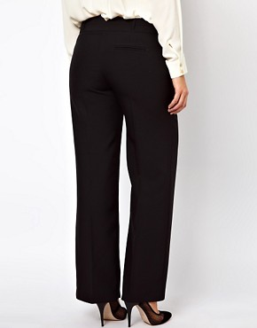 Image 2 ofASOS CURVE Bi-stretch Clean Front Wide Leg
