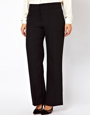 Image 4 ofASOS CURVE Bi-stretch Clean Front Wide Leg