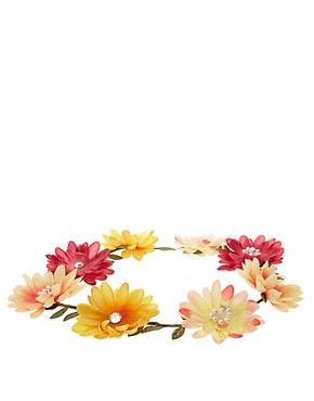 Image 2 ofRiver Island Large Daisy Garland Head Band
