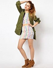 Minkpink Tomorrow Land Mini Skirt in Rainbow Mesh