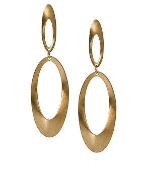 Image 1 ofKenneth Jay Lane Statement Double Ring Earings