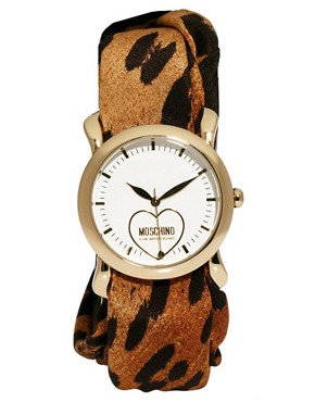 Image 1 ofMoschino Cheap &amp; Chic Leopard Scarf Watch