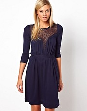French Connection Dress With Lace Panel