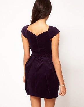 Image 2 ofASOS Structured Dress In Velvet
