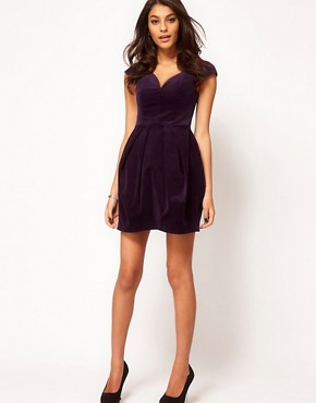 Image 4 ofASOS Structured Dress In Velvet