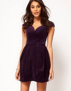 Image 1 ofASOS Structured Dress In Velvet