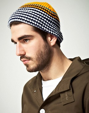 Image 2 ofASOS Stripe Tiny Beanie