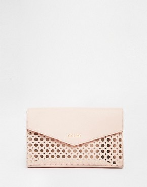 Lipsy Circle Cut Out Metallic Clutch