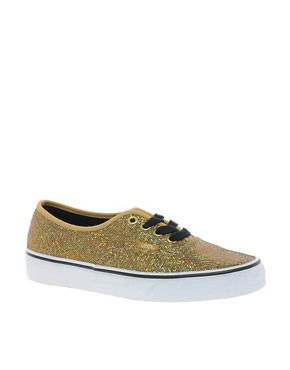 Image 1 ofVans Authentic Gold Glitter Trainers